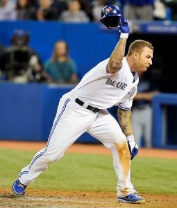 Brett Lawrie throwing his Helmet